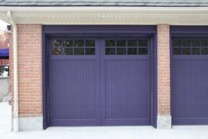 Oxford Carriage Door Ltd. uses Sansin stain on their doors - example of custom door design with purple Sansin stain applied