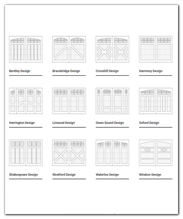 Click here to view door design drawings by Oxford Carriage Door Ltd.