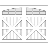 Oxford Carriage Door Design Drawing - Crosshill