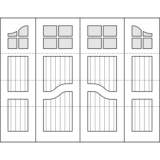 Oxford Carriage Door Design Drawing - Harrington