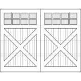 Oxford Carriage Door Design Drawing - Stratford
